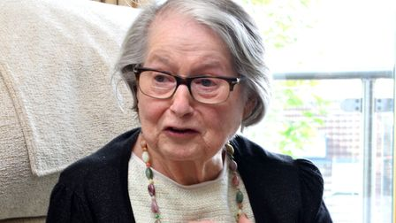 Ruth Eisenfeld, a Holocaust survivor who has spoken out against the relocation of the Ravenscroft Me