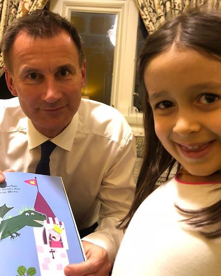 Foreign Secretary Jeremy Hunt meets Nazanin Zaghari-Ratcliffe's daughter Gabriella. Picture: Free Na
