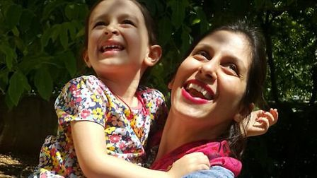 Nazanin Zaghari-Ratcliffe with daughter Gabriella during Nazanin's furlough. Picture: Free Nazanin