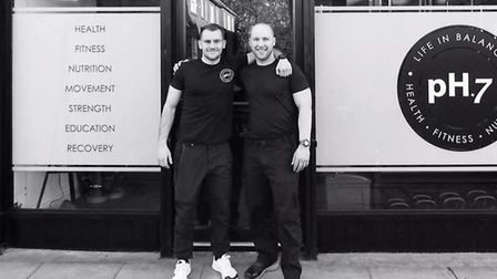 pH7 Gym co-founders Nick De Palma and James Hutchison. Picture: pH7