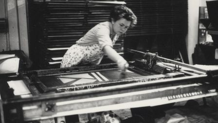 Rebecca Wilson working at the Lenthall Road Workshop. Picture: Lenthall Road Workshop