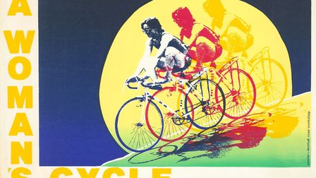 The poster 'a woman's cycle' made at the Lenthall Road Workshop. Picture: Lenthall Road Workshop