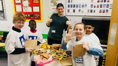 The successful cake sale at Blanche Nevile School for the Deaf in Highgate. Picture: Blanche Nevile