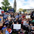 Clean Air for Schools March on 26.04.19. Children and parents from Grasmere and William Patten prima
