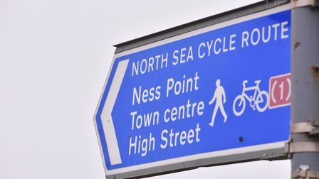 A sign to Britain's most easterly point 'Ness Point'. PHOTO: Nick Butcher