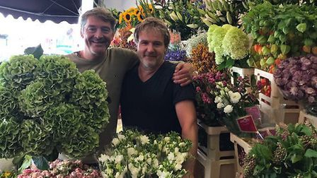 Michael Silliton and John Cousans from The Flower Seller in Muswell Hill. Picture: MICHAEL SILLITON