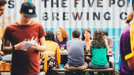 A variety of draught beer will be available from Five Points