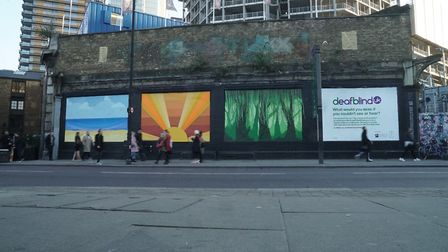 The Deafblind UK mural on Great Eastern Street. Picture: Global Street Art.