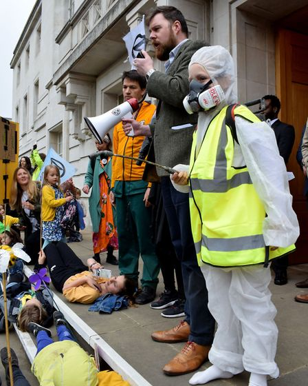 Families protest against Hackney council's continued use of glyphosate. Picture: Polly Hancock