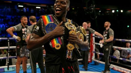 British and Commonwealth cruiserweight champion Lawrence Okolie (pic: Paul Harding/PA)