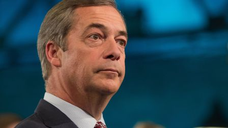 Nigel Farage was booed at the British Curry Awards. Photograph: Aaron Chown/PA.