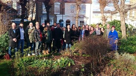 Eastenders writers in Fassett Square in 2014. Picture: Supplied