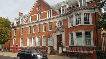 The former Hampstead Police Station, in Rosslyn Hill, which Abacus Belsize Primary School want to tu