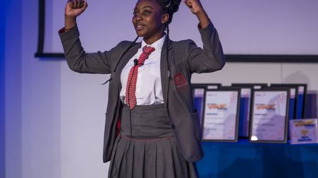 Mateenah Adeleke from Cardinal Pole Roman Catholic School scooped the top prize of a �100 gift certi
