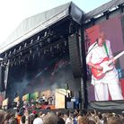 Hot Chip on stage at All Points East in Victoria Park. Picture: Ramzy Alwakeel