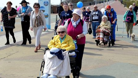 Staff, residents and their families from Oulton Park Care Centre took part in a sponsored walk to pr