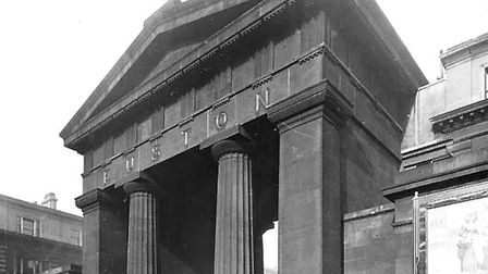 Euston's old Doric Arch is mentioned in Nick Dobson's Moods of London talk. PIcture: Camden Local St
