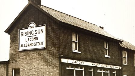 The GritFest - a celebration of Lowestoft's beach village. The Rising Sun pub in Lowestoft. Pictures