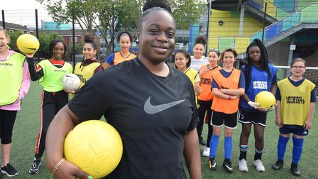 Yemisi Ebofin runs a football programme for girls. Picture: Polly Hancock