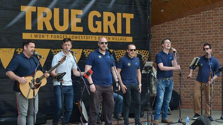 The GritFest - a celebration of Lowestoft's beach village. The Rogues Shanty Buoys and Chorus perfor