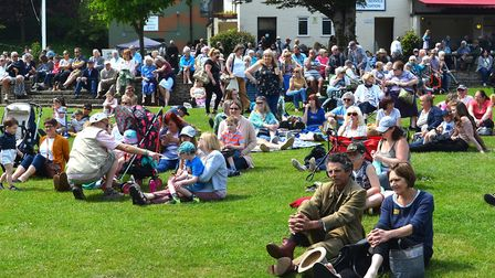 Crowds of people descended on Sparrows Nest in Lowestoft for GritFest. Picture: Mick Howes