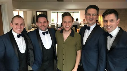 Waveney doo-wop group The TestostaTones performed privately for Olly Murs at his birthday celebratio