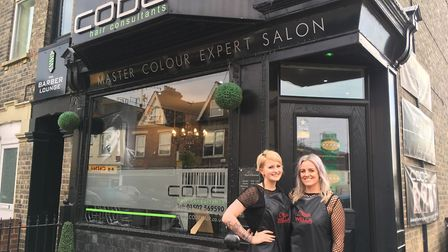 Katie Scarfe and Laura Bull of CODE Hair Consultants, whose initiative is designed to get people tal