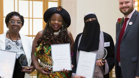 Hackney mayor Phil Glanville with last year's civic award winners. Picture: Gary Manhine/Hackney Cou