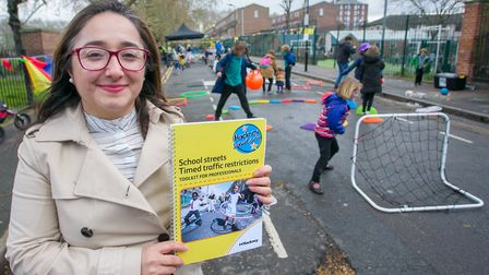 Deputy Mayor Cllr Feryal Demirci with Hackney Council's new guide to help councils across the countr
