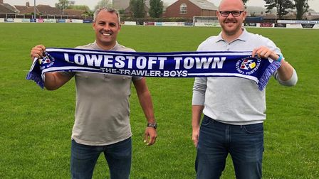 Jamie Godbold has been named the new Lowestoft Town boss alongside assistant Andy Reynolds. Picture: