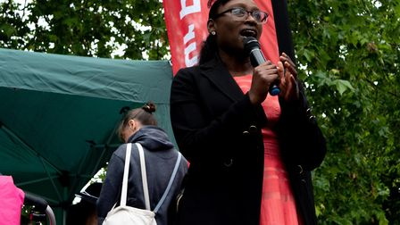 Cllr Anntoinette Bramble at the 'scrap the SATs jamboree' in Clissold Park. Picture: Joshua Thurston