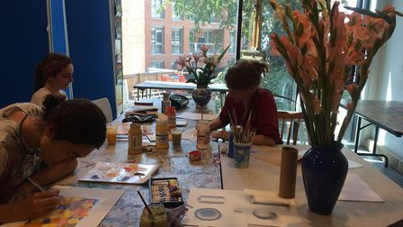 A still life class being led by the Hampstead School of Art. Picture: Hampstead School of Art/O2 Ce