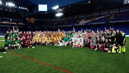 A total of 12 teams from the Hackney Super5League helped launched the England kits for the Women's W