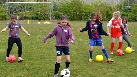 A previous girls development session at Barnards Meadow, Lowestoft organised by Waveney FC. Pictures