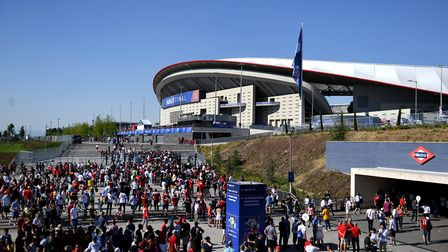 Spurs and Liverpool fans arrive ahead of the Champions League Final at the Wanda Metropolitano (pic: