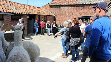 The Pathways Care Farm second birthday celebrattion events. Speeches are made. Pictures: Courtesy of