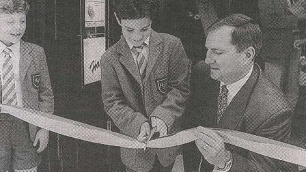 Ben Williamson, aged seven, opening the new McDonald's in Hampstead High Street, in 1993