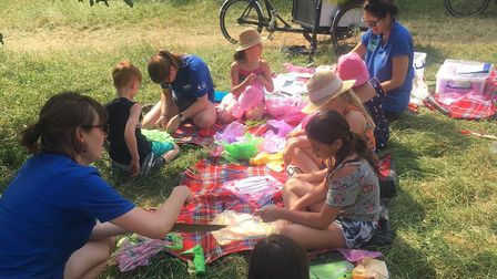 A picnic at last year's Heath Hands Community Festival. Picture: Heath Hands