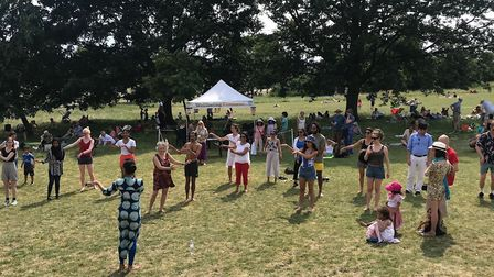 Dancing at the 2018 Heath Hands Community Heath festival. Picture: Heath Hands
