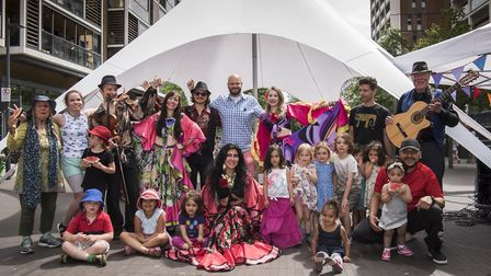 The Yagori Gypsy Dance troupe had crowds on their feet dancing along to a live band to celebrate the