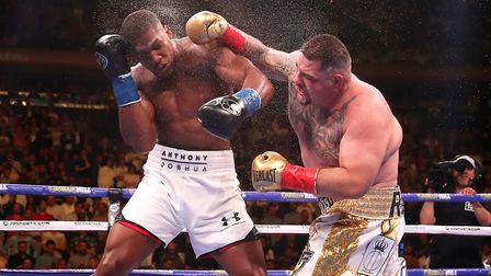 Anthony Joshua (left) suffered a surprise defeat to Andy Ruiz Jr in New York on Saturday (pic: Nick