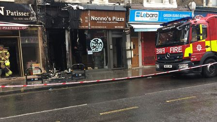 The aftermath of the fire in Green Lanes. Picture: Charis St Clair Fisher