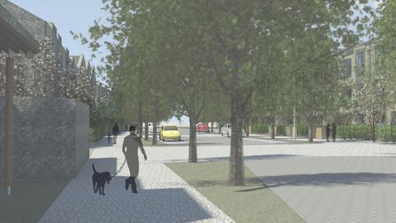 Graphics representative of the proposals for phase 1 of the Brooke Peninsula and Jeld Wen site in Lo