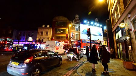 Old Street and Shoreditch High Street shown in a file image of Hackney's nightlife. Picture: Polly H