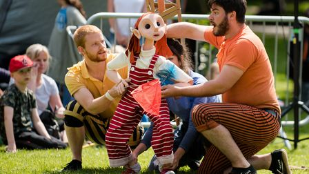 An acrobatic puppet as part of the Look Up show coming to Highgate's Fair in the Square. Picture: JM