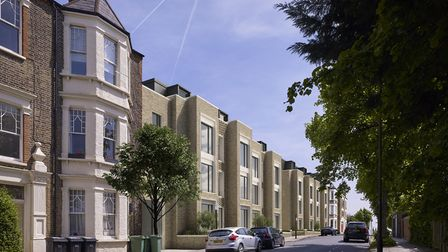 A view of the proposed street frontage in Gondar Gardens. Picture: LifeCare Residences