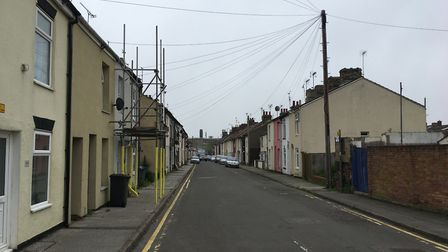 Bevan Street West in Lowestoft - the worst street for reported fly-tipping in Waveney. Picture: Thom