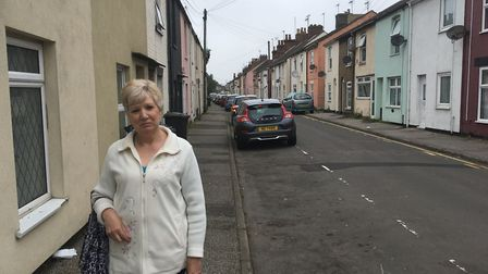 Linda McSweeney says fly-tipping on Bevan Street West has worsened over the last 14 years. Picture: