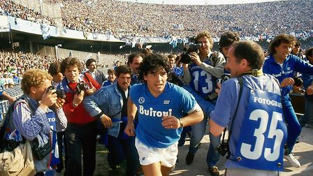 A still from Asif Kapadia's new film, Diego Maradona, which comes out June 14.