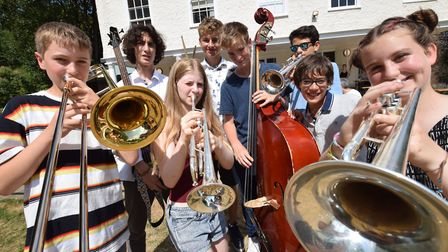 Young musicians from Highgate School perform on the Tea Lawn at Lauderdale House at the 2018 Highgat